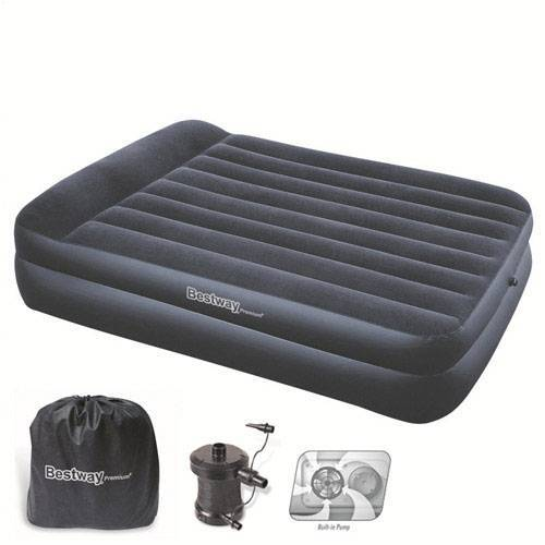 203x152x48 cm. Bestway 8321120 Cama Inflable Doble con Bomba Exterior 220 V