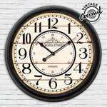 Horloge Murale Hall de Gare Londres Vintage Coconut