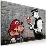 Tableau - Super Mario Mushroom Cop by Banksy