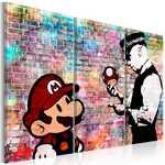 Tableau - Rainbow Brick (Banksy)