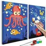 Tableau à peindre par soi-même - Au fond de l'océan