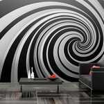Papier peint XXL - Black and white swirl